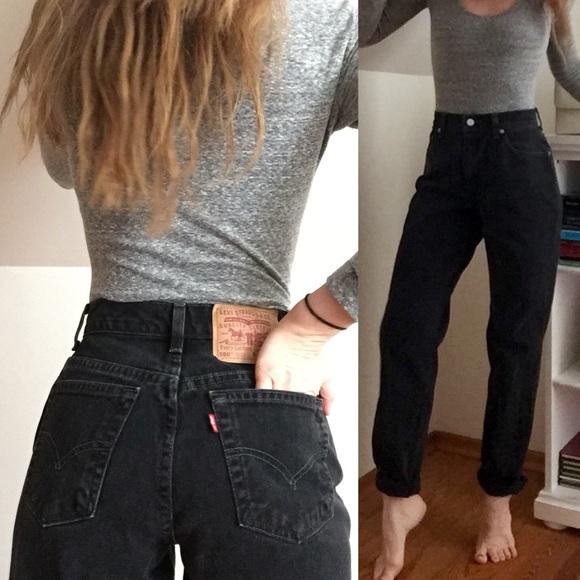Levi S Jeans Vintage Levis 550 Black Mom Poshmark